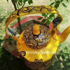 Kettle (Hand Painted -Yellow Mandala)