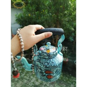 Kettle (Hand Painted -Sky blue Mandala)