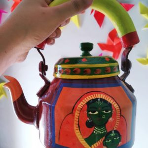 Hand Painted Kettle (3Ladies)