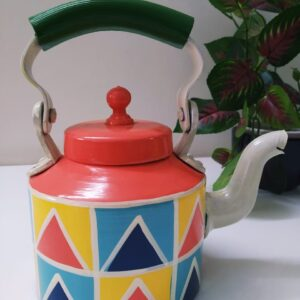 Hand painted Kettle (pink design)