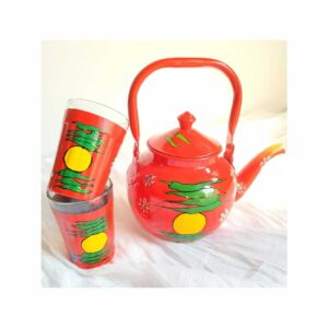 Hand painted Kettle set (Red)