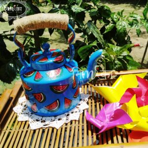 Kettle (Hand Painted -Blue Watermelon Design)